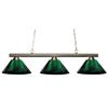 3 Light Billiard Light Brushed Nickel