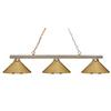 3 Light Billiard Light Polished Brass