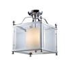 Z-Lite 3 Light Semi-Flush Mount Chrome