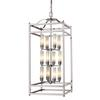 12 light Chandelier Brushed Nickel