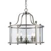5 Light Pendant Brushed Nickel