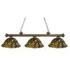 3 Light Billiard Light Antique Brass