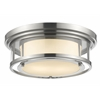 2 Light Flush Mount Brushed Nickel