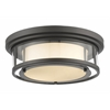 Z-Lite 2 Light Flush Mount Bronze