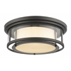 Z-Lite 3 Light Flush Mount Bronze
