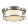 4 Light Flush Mount Brushed Nickel