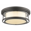 4 Light Flush Mount Bronze