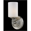 1 Light Wall Sconce Satin Nickel