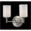 2 Light Vanity Light Satin Nickel