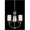 3 Light Chandelier Satin Nickel