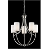 5 Light Chandelier Satin Nickel