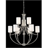 9 Light Chandelier Satin Nickel