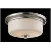 3 Light Flush Mount Satin Nickel