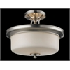 3 Light Semi-Flush Mount Satin Nickel