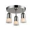 3 Light Semi-Flush Mount Chrome