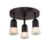 3 Light Semi-Flush Mount Oil Rubbed Bronze