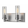 Z-Lite 2 Light Vanity Light Old Silver