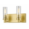 2 Light Vanity Light Satin Gold