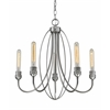 5 Light Chandelier Old Silver