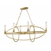 6 Light Chandelier Satin Gold