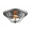 2 Light Flush Mount Old Silver