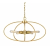 5 Light Pendant Satin Gold