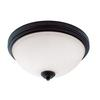 3 Light Flush Mount Dark Bronze