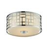 Z-Lite 2 Light Flush Mount Chrome