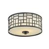 2 Light Flush Mount Bronze