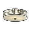 3 Light Flush Mount Bronze