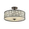 Z-Lite 3 Light Semi-Flush Mount Bronze