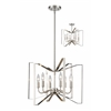 6 Light Pendant Brushed Nickel
