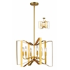 Z-Lite 6 Light Pendant Polished Metallic Gold