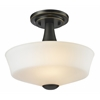 2 Light Semi Flush Mount Coppery Bronze