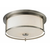 Z-Lite 3 Light Flush Mount Brushed Nickel