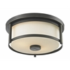 2 Light Flush Mount Olde Bronze