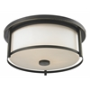 3 Light Flush Mount Olde Bronze