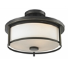 2 Light Semi Flush Mount Olde Bronze