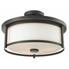 Z-Lite 3 Light Semi Flush Mount Olde Bronze