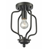 1 Light Flush Mount Olde Bronze