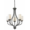 Z-Lite 5 Light Chandelier Olde Bronze