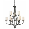 9 Light Chandelier Olde Bronze