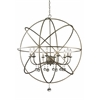 Z-Lite 10 Light Pendant Antique Silver + Clear Crystal