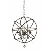 Z-Lite 6 Light Pendant Golden Bronze + Clear Crystal
