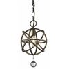 1 Light Mini Pendant Golden Bronze + Clear Crystal