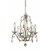 4 Light Mini Chandelier Antique Silver