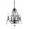 4 Light Mini Chandelier Matte Black