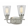 2 Light Vanity Light Brushed Nickel