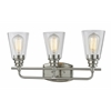 3 Light Vanity Light Brushed Nickel