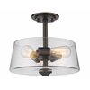 Z-Lite 3 Light Semi Flush Mount Old Bronze